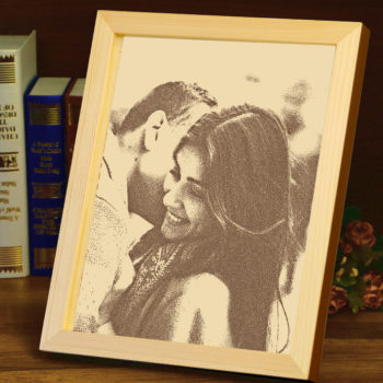 Custom Photo Engraved Wooden Photo Wooden Carving Personalized Gift