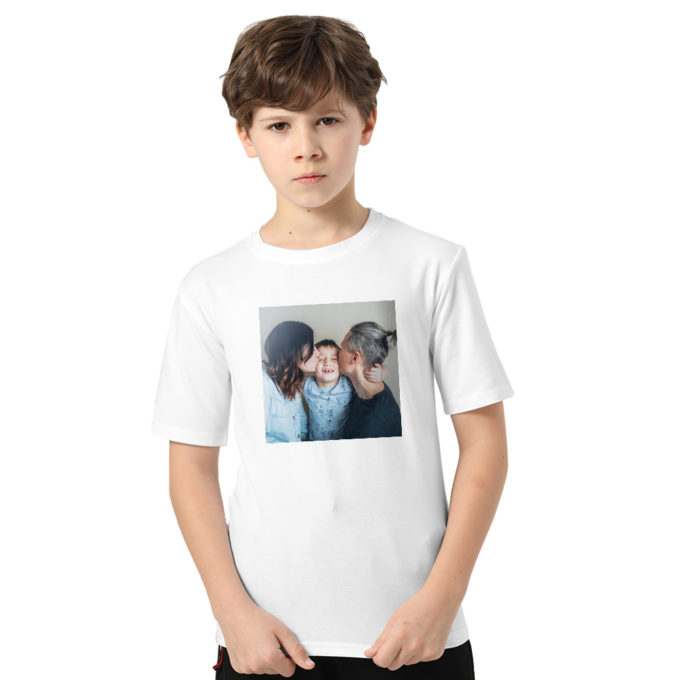Custom Kids' Crewneck T-shirts Personalized Classical T-shirt Casual Style