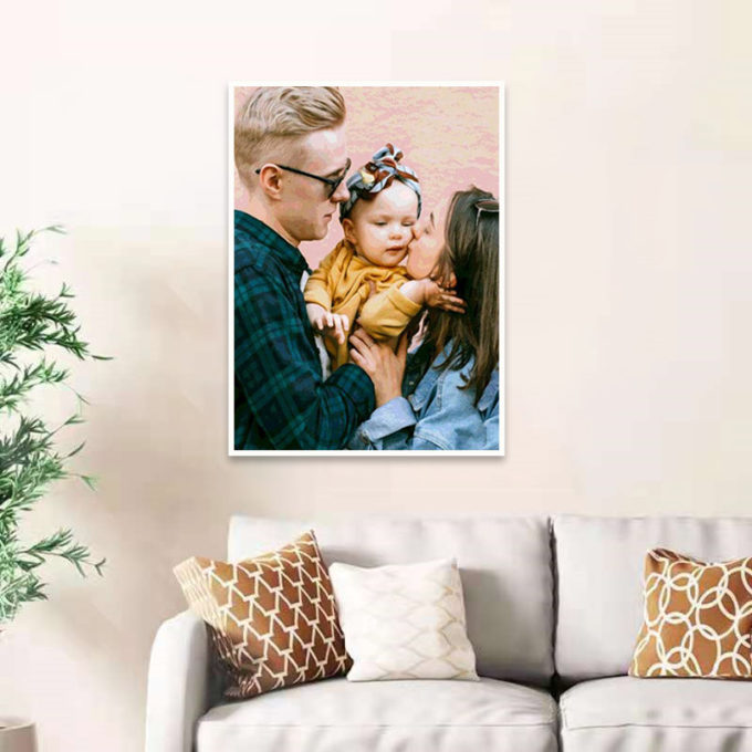 Custom Photo Oil Painting Paint by Numbers Kit Gift