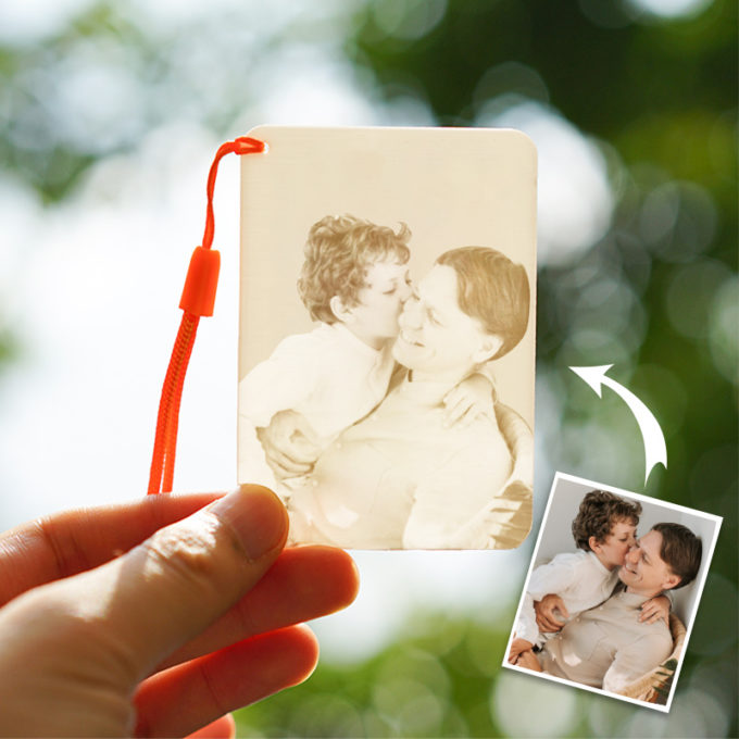 Custom Photo Sketch 3D Printed Picture Lithophane Keychain Personalized Key Charm