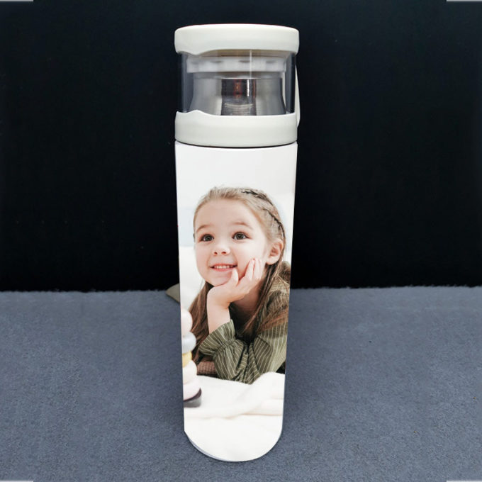 Custom Thermal Water Bottle with Cup Lid 500ml Personalized Temperature Bottle