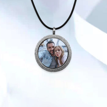 Custom 3D Engraving Photo Necklace Personalized Anaslyph Photo Jewelry