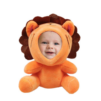 Custom Cartoon Lion Bee Doll Photo Frame with Suction Cup Personalized Face Doll Charm