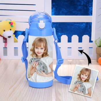Personalized Kids Water Bottle with Straw 500ml
