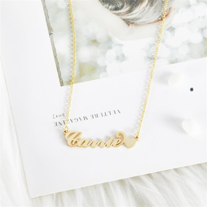 Carrie Style Name Necklace Custom Classic Name Necklace