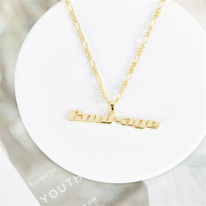 Nameplate Clavicle Chain Personalized Name Necklace