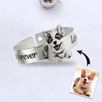 Custom Pet Photo Ring Dog and Cat Pictures Ring