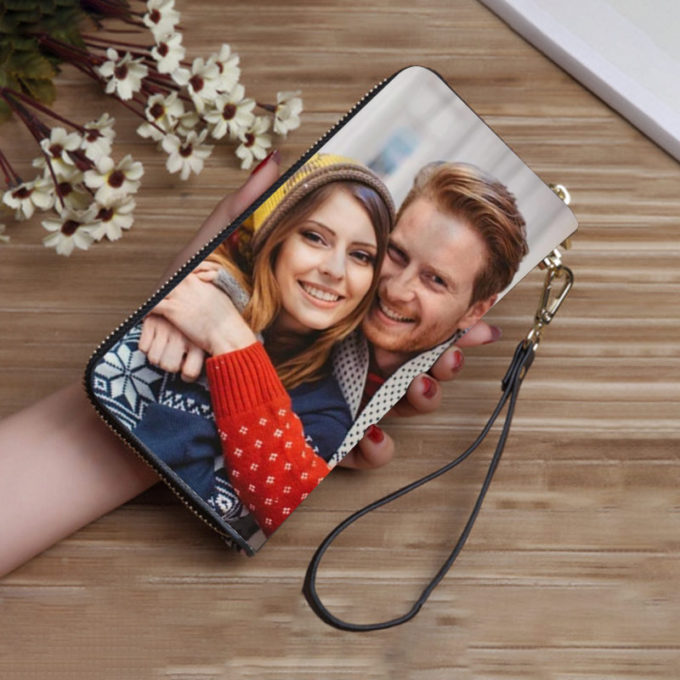 Custom Photo Cluth Wallet Long Wallet Pouch Personalized Bag