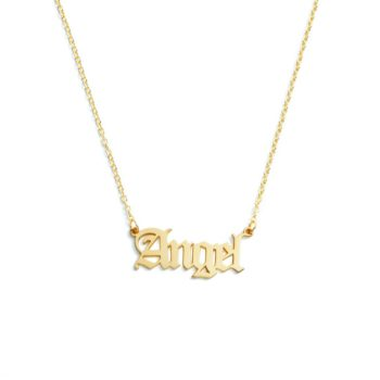 Personalized Name Necklace Stainless Steel Name Pendant