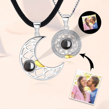 Projection Sun and Moon Necklace Personalized Pendant