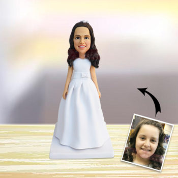 Custom Female Polymer Personalized Bobblehead Clay Human Statuette