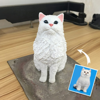 Custom Pet Polymer Clay Statuette Personalized Clay Figure