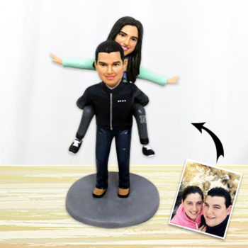 Custom Couple Polymer Clay Figurines Personalized Bobblehead Clay Human Statuette