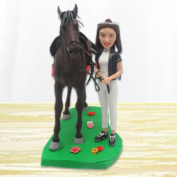 Custom Person & Pet Polymer Clay Figurine Personalized Bobblehead Clay Human Statuette