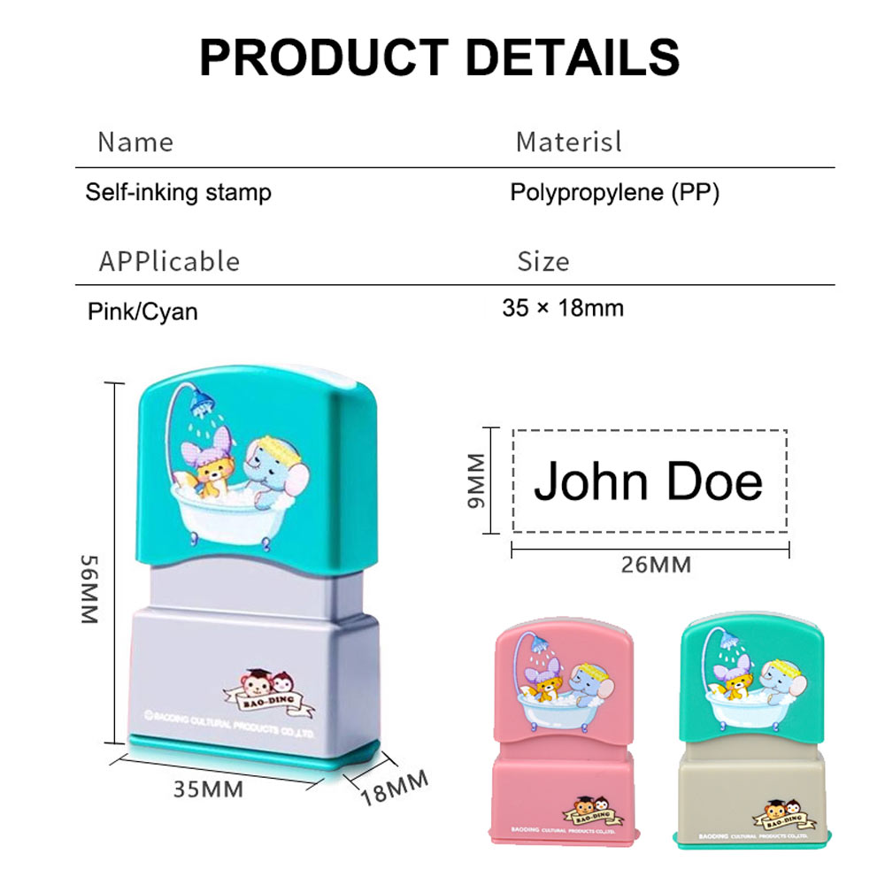 Personalized Name Stamp for Clothing School Labels for Kids