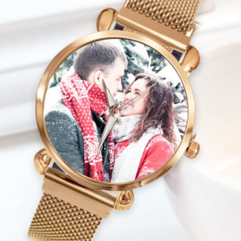Custom Photo Multicolor Women's Quartz Watch Personalized Watches for Her