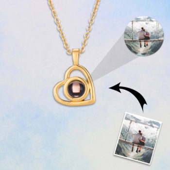 Heart Necklace with Picture Custom Projection Pendant