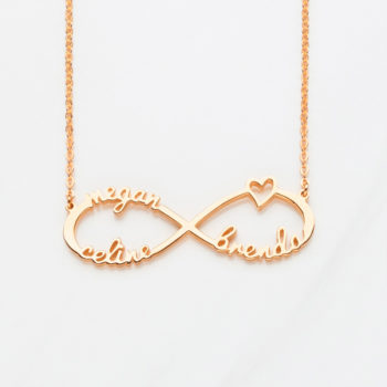 Infinity Name Necklace Personalized 3 Names Necklace
