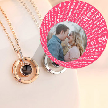 Photo Projection Necklace Personalized Symbol Pendant
