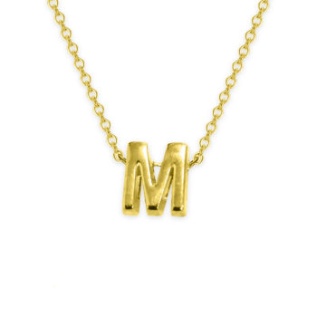 M Necklace Letter Necklace Gold Custom Initial Necklace