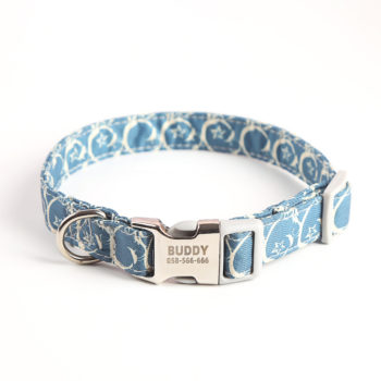 Multicolor Custom Pet Collar with Name Personalized Dog Collar