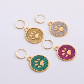 Paw Pendant Custom Dog Paws Plate Personalized Engraved Puppy ID Collar Paw Tags