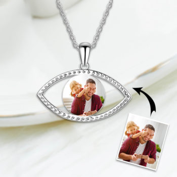 Shining Eye Photo Necklace Glitter Custom Photo Necklace Chain with Picture