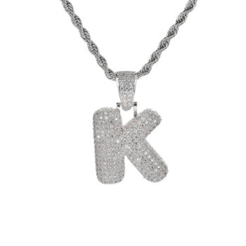 Custom Letter Necklace Diamond Name Necklace Gold Name Twist Chain