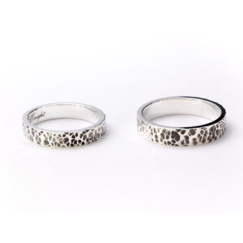 Custom Hammered Ring Name Ring Personalized Engraved Rings