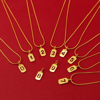 Custom Single Number Necklace Personalized Necklace with Number Pendant
