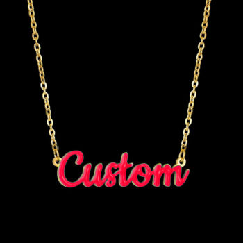 Custom Name Necklace Oil Drip Pendant Personalized Necklace
