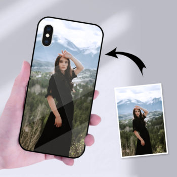 Customized iPhone X Series Mobile Phone Case Personalized Glass & TPU Soft Phone Case