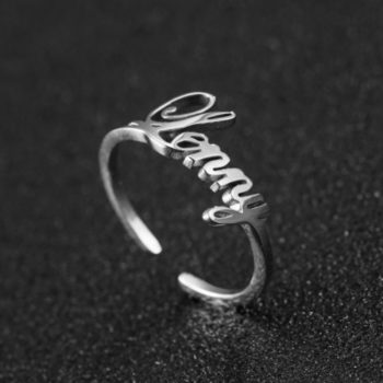 Ring with Name Engraved Personalized Name Ring Lab Created Engagement Rings