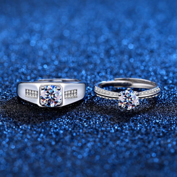 Diamond Ring Custom Engagement Rings with Moissanites Personalized Name Engraving Rings